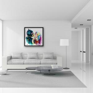 Catwoman love Harley Quinn - peinture tableau Patrice MURCIANO exclusive