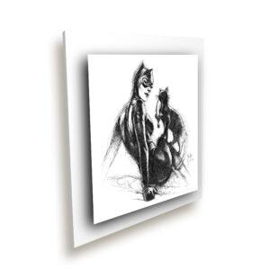 Catwoman blanc ice millenium - Oeuvre Patrice Murciano