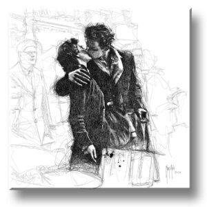 Le baiser de l'hôtel de ville - scribble - Murciano - collector one