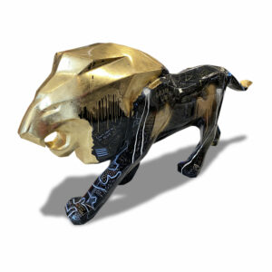Golden Lion - sculpture patrice Murciano pièce unique