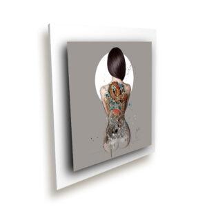 La femme tatouée blanc ice millenium - Oeuvre Patrice Murciano