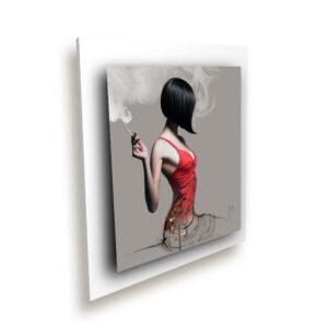 La fille en rouge blanc ice millenium - Oeuvre Patrice Murciano