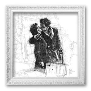 Le baiser de l'hôtel de ville - toile encadrée Patrice Murciano Prestige