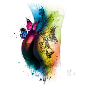 Butterfly tattoo - Poster PREMIUM authentique de Patrice MURCIANO