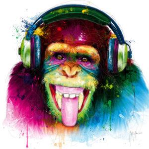 DJ Monkey - Poster PREMIUM authentique de Patrice MURCIANO