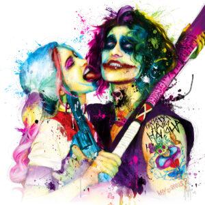Joker love harley quinn - Poster PREMIUM authentique de Patrice MURCIANO