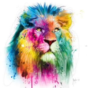 Lion colors - Poster PREMIUM authentique de Patrice MURCIANO