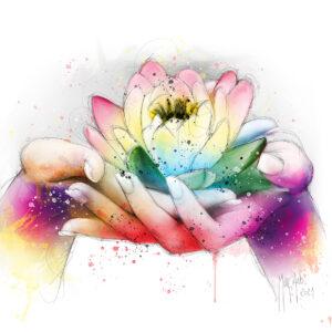 Lotus - Poster PREMIUM authentique de Patrice MURCIANO
