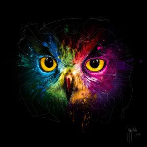 Pop Owl - Poster PREMIUM authentique de Patrice MURCIANO