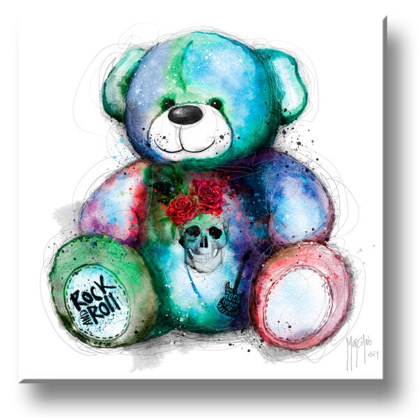 Teddy Rock - Ours peinture toile murciano
