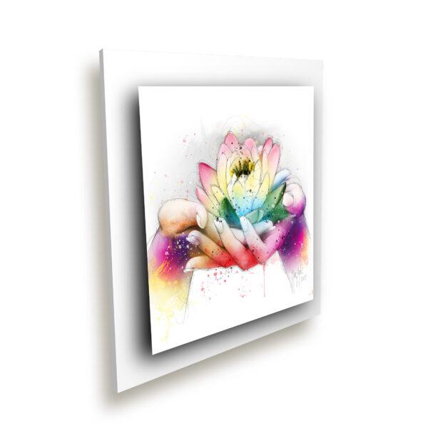 Lotus fleur peinture toile murciano collection plexiglass