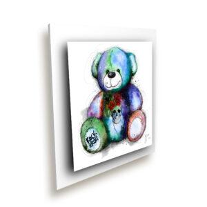 TABLEAU métal Teddy bear Rock - murciano tableau