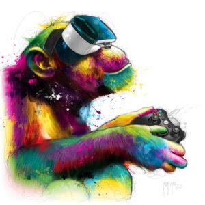 Homo gamer - Poster PREMIUM authentique de Patrice MURCIANO