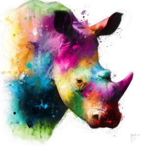 Rhinocéros - Poster PREMIUM authentique de Patrice MURCIANO
