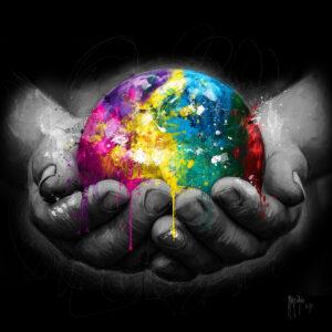 We are the world - Poster PREMIUM authentique de Patrice MURCIANO