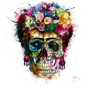Frida Kahlo Skull-Poster PREMIUM authentique de Patrice MURCIANO