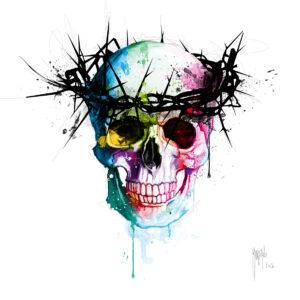 Jesus_S Skull-Poster PREMIUM authentique de Patrice MURCIANO