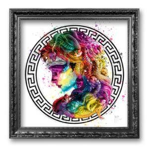 Medusa art contemporain toile encadrée prestige Pop Art