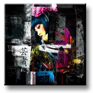 Tokyo - toile peinture - Galerie d'Art dans l'Hérault - art contemporain pop art by Murciano