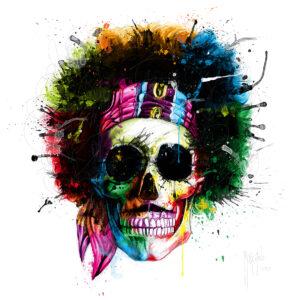 Hendrix Skull-Poster PREMIUM authentique de Patrice MURCIANO