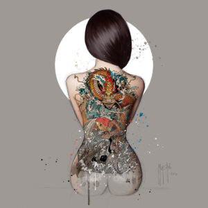 La Femme Tatouée-Poster PREMIUM authentique de Patrice MURCIANO
