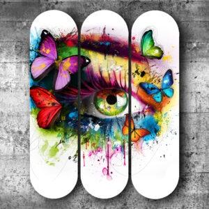 Skateboard contemporain pour décoration intérieure street Art