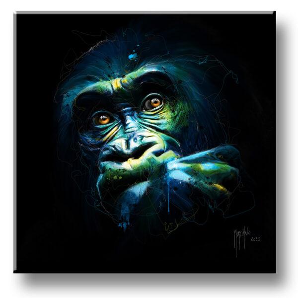 Black Kong - toile peinture - Galerie d'Art dans l'Hérault - art contemporain pop art by Murciano