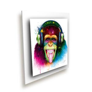 Dj Monkey - toile peinture - Galerie d'Art dans l'Hérault - art contemporain pop art by Murciano