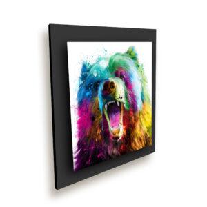 Bear POP - toile peinture - Galerie d'Art dans l'Hérault - art contemporain pop art by Murciano