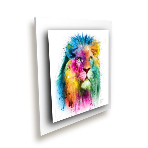lion tableau peinture oeuvre artiste couleur